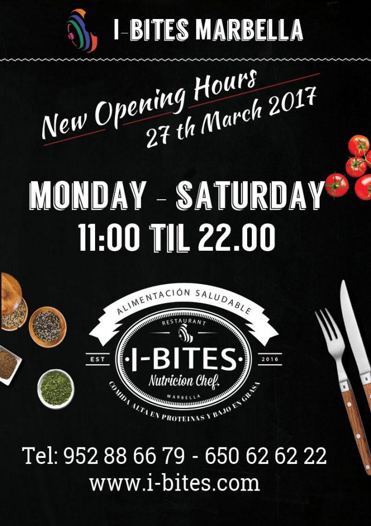i-bites restaurant marbella opening times